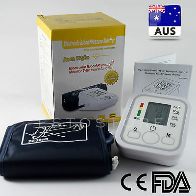 Upper Arm Blood Pressure Machine Heart Rate Monitor Pulse Checker *Brand New*AUS