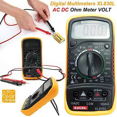 New Electrical LCD Digital Multimeter Ohmmeter Multi OHM Tester AC DC Voltmeter