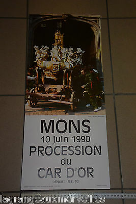 Affiche Mons Procession du Car d'Or 1990