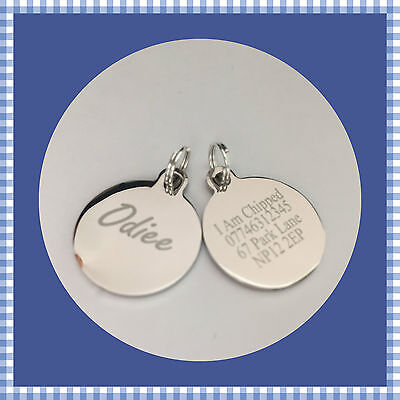 19mm Engraved Pet Tags Small Dog/Puppy, Cats/Kittens Id Tags Stainless Steel