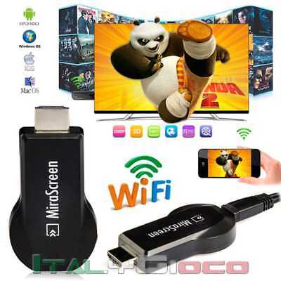 Chiavetta Penna Mira Screen HDMI Dongle Miracast WiFi Airplay DLNA IOS Android