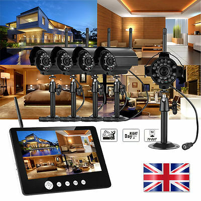 """7/9"""" LCD monitor Record Outdoor Digital Wireless DVR CCTV camera Security System"""