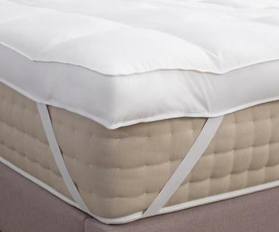 Hotel Quality Slight Seconds 4inch Deep Cotton Cover Mattress Topper Uk Made