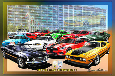 Ford Mustang We still have a better idea- Fine art print by Danny Whitfield