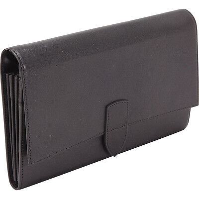 Royce Leather Diplomat Passport Wallet - Black Travel Wallet NEW