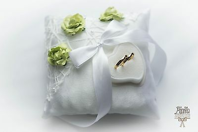 personalised wedding ring cushions, wedding ring pillow, p10 mint