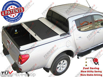 Mitsubishi L200 2010> 08/2015 (Double Cab) Long-bed Laderaumabdeckung ALU Selbst