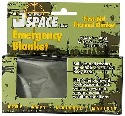 Grabber Space Emergency Tactical Survival Blanket Army Olive Military Camping
