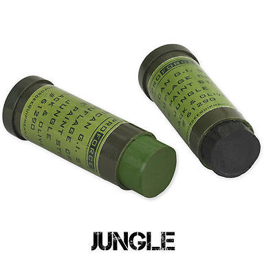 Camouflage Tactical Face Paint Tube Jungle Green & Black Sticks Camcon Proforce