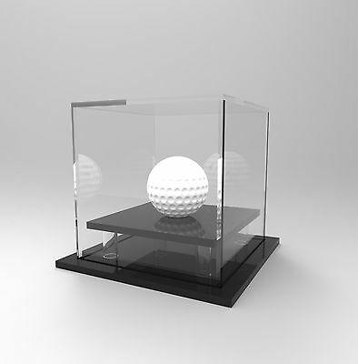 Golf Ball Display Case Acrylic Perspex : Hole in One / Competition Ball - BLACK