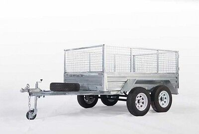 Biggest Sale!!tandem 8*5 Galvanized Trailer Heavy Duty$2199