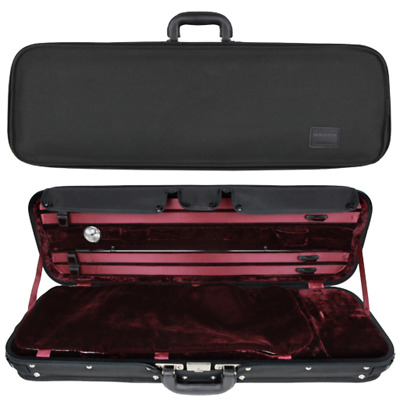 GEWA Liuteria Maestro Oblong Violin Case for 4/4 Full Size Violin Red/Black