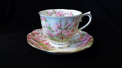 "Royal Albert ""Blossom Time"" Footed Cup and Saucer"