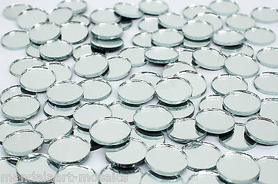 25mm ROUND GLASS MIRROR TILES - 80 PIECES