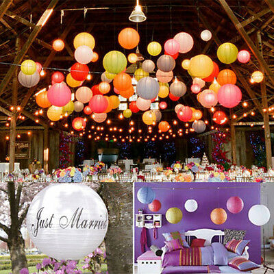"""8""""Round Traditional Chinese Hanging Paper Lanterns for Wedding Party Event pink"""