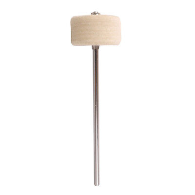White Felt Bass Kick Drum Beater Pedal Beater for Percussion Drum Hammer 30*50mm