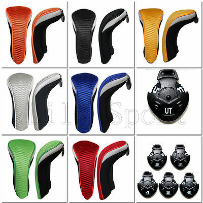 Golf Hybrid Club Rescue Cover Headcovers with Number Tag (2,3,4,5,6,UT) Utility