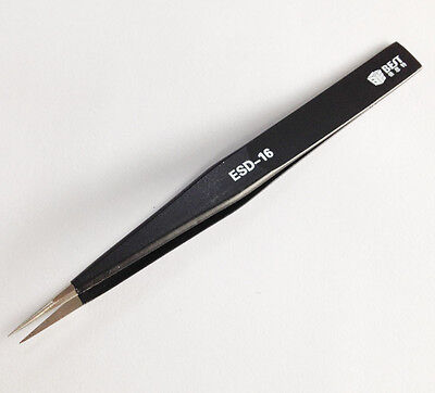 Hot BST ESD-16 Anti-Static Non-Magnetic Straight Tip Tweezers Better K1