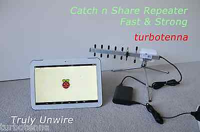 Catch n Share WiFi TurboTenna Repeater Kit - PULLS IN INTERNET FOR YOUR GADGETS