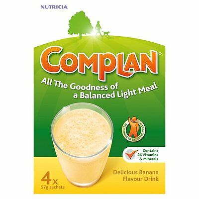 Complan Delicious Banana Flavour Drink 4 x 55g Sachets