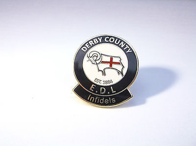 Derby County Infidels England Rare Gilt Pin Badge