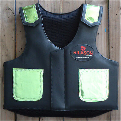 Hilason Kids Junior Youth Bull Riding Pro Rodeo Leather Protective Vest