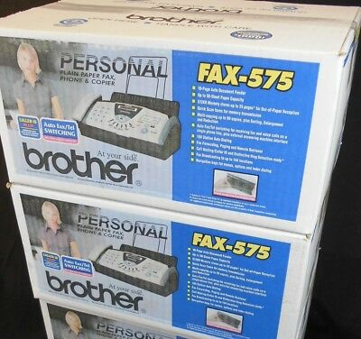 Lot of 2 Brother 575 Plain Paper Fax Machines NIB
