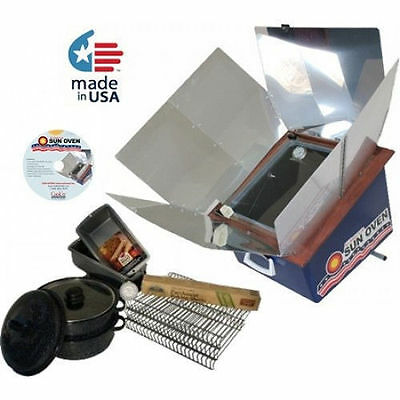 American Sun Oven + Dehydrating & Preparedness Package Portable Solar Cook Oven