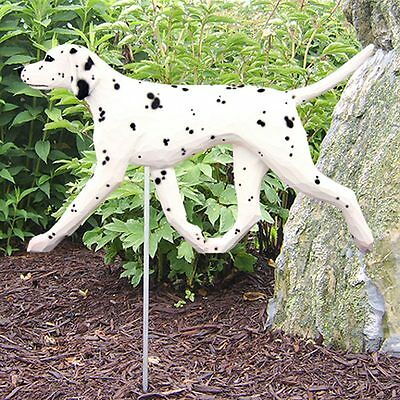 Dalmatian Outdoor Garden Dog Sign Hand Painted Figure Black