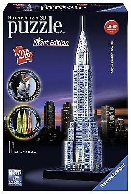 3D Puzzle Night Edition CHRYSLER BUILDING con Luci LED 216pz by RAVENSBURGER