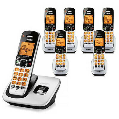 Uniden D1760-7 DECT 6.0 Cordless Phone w/ 6 Extra Handsets