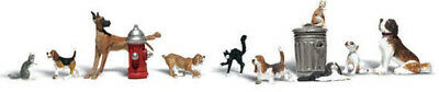 Woodland Scenics N Scale Scenic Accents Figures/Animal Set Dogs & Cats (12)