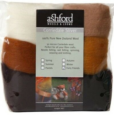 """FIBRE PACK  """"FURRY FRIENDS"""" 7 colour pack of our popular 30 micron Corriedale"""