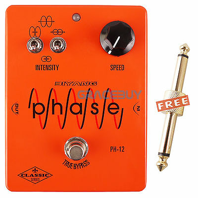 New Biyang PH-12 Electric Guitar MXR Phase Volume Effect Pedal Speed True Bypass
