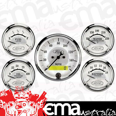Autometer Ford Masterpiece 5 Gauge Kit Au880087 Speedo,fuel,water Temp,oil,volts