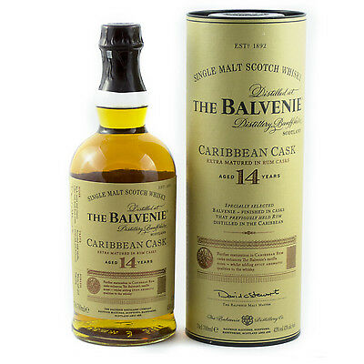The Balvenie 14 Year Old Caribbean Cask Scotch Whisky 700mL