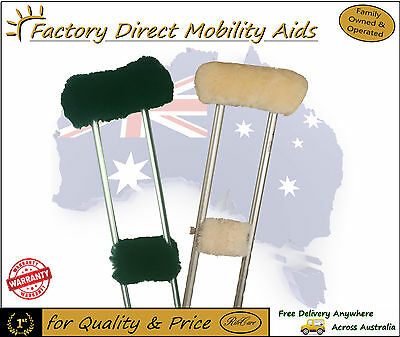 UGG Wool Crutch Cover 2 Sets for 1 Pair of Crutches
