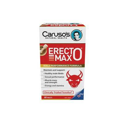 Caruso's Erectomax 60 Tabs-Libido-Testosterone Support Erecto Max Fenugreek