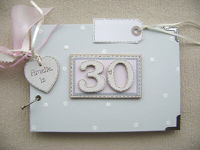 PERSONALISED 30th  birthday ...A5  SIZE... PHOTO ALBUM/SCRAPBOOK/MEMORY BOOK.
