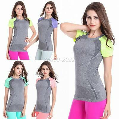 Women Sport T-Shirt Tee Athletic Clothes O Neck Quick Dry Top Gym Dance T-Shirt