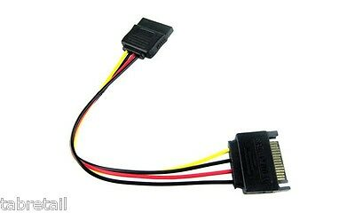 "30cm 12"" Sata Power Extension Cable Male to Female"