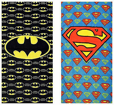 DC Comics Batman Superman Beach Bath Towel Official 60x120 - For Kids Or Adults!
