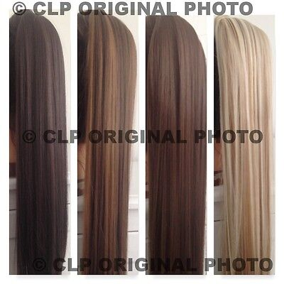 PONYTAIL Hair Extension.Like REAL hair. Wrap around, STRAIGHT, BLONDE/BROWN/BLAC