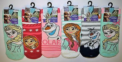 DISNEY FROZEN Childrens Slipper Socks with Grippers 6 designs, Anna Olaf Elsa
