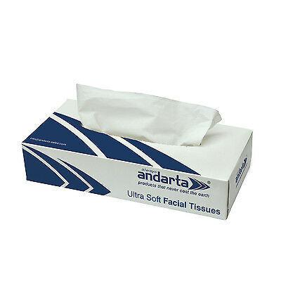 Andarta Luxury Facial Tissues Case of 36 Boxes (Only 75p a Box)