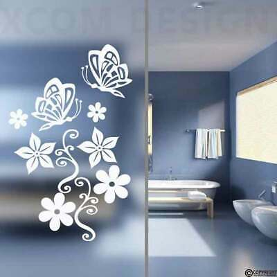 Butterfly/Flower stickers,Frosted/colour,Bathroom wall,Door glass,Shower screen