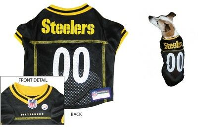 4643c2a190d PITTSBURGH STEELERS Dog Jersey NFL Officially Licensed Football Pet Product  Gear