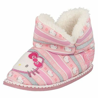 Girls Hello Kitty Bootie Slippers Pink with Fleecy Lining 320/3193