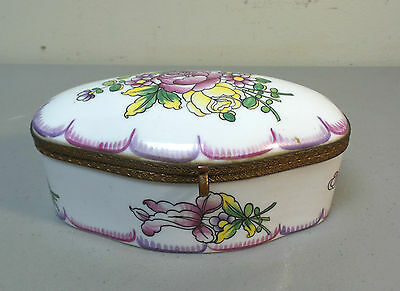 Antique French Porcelain Enameled Dresser / Jewelry Box, Ovington Bros. N.y.