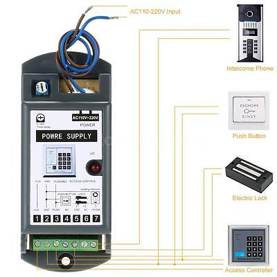 Access Control Power Supply Door Lock Entry Safety System Ac Dc 12v